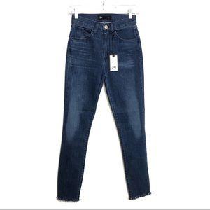 3X1 Skinny Crop High Rise Raw Hem Fray Sally Jeans